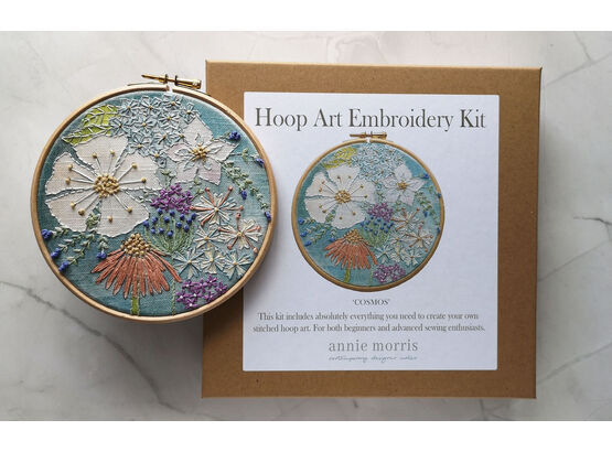 Annie Morris Hoop Art Embroidery Kit COSMOS