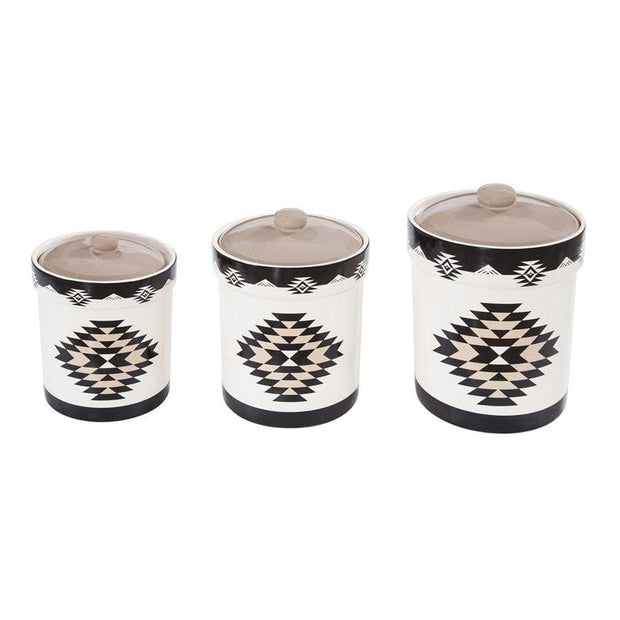 2 Sets of 3 PC Chalet Canister Set