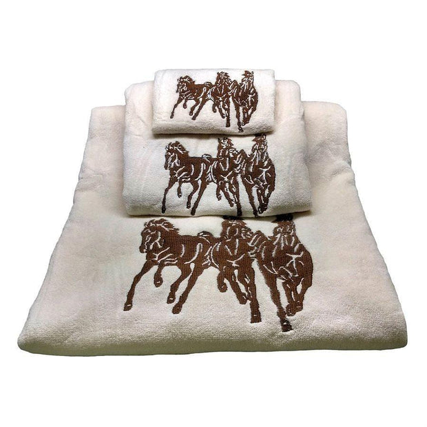 Red Savannah 9-PC Bath Accessary and Horse Towel Set