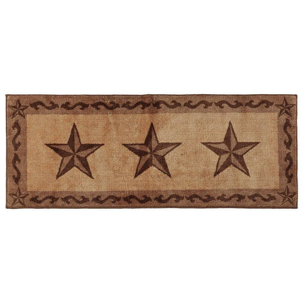 3-Star w/ Scroll Motif Kitchen/Bath Rug - Chocolate