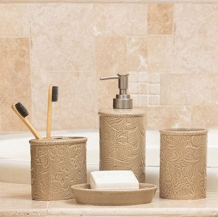 Savannah 4-PC Bath Countertop Accessory Set, Taupe