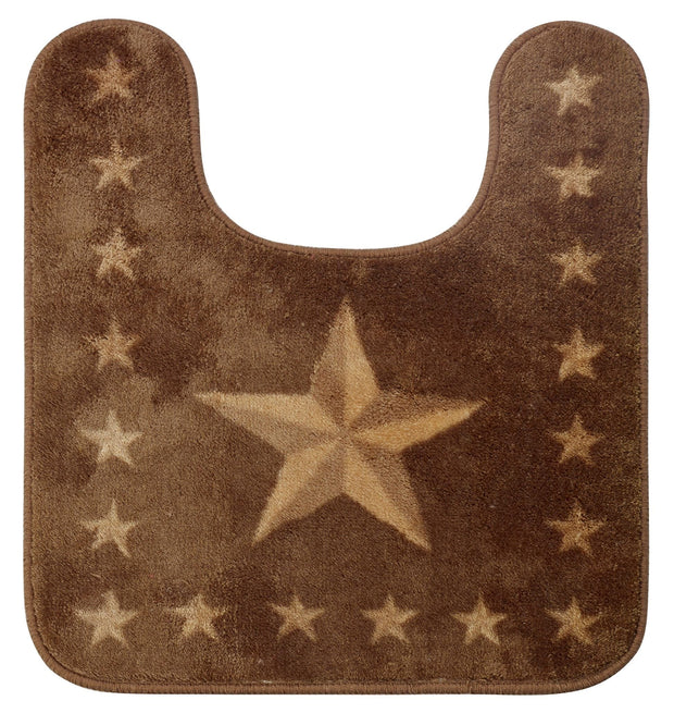 Star Contour Bathroom Rug, Chocolate