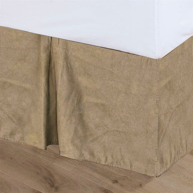 "Tan Suede Bed Skirt (16""/18"" Drop)"