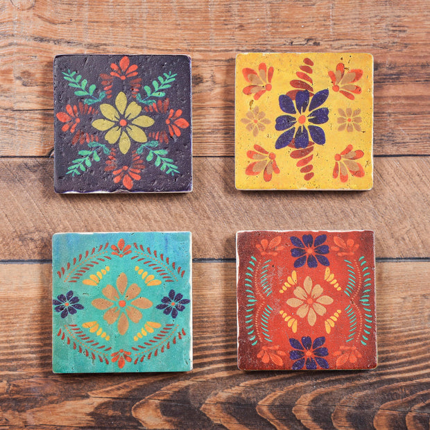 4 PC Bonita Televera Design Coaster Set