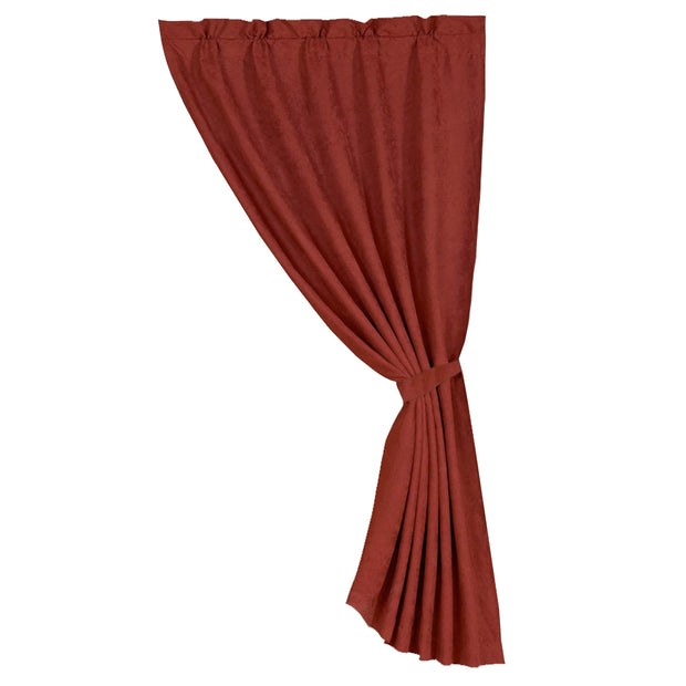 Microfiber Suede Single Panel Curtain - Red