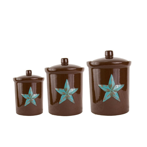 Western Star 3-PC Kitchen Canister Set, Turquoise
