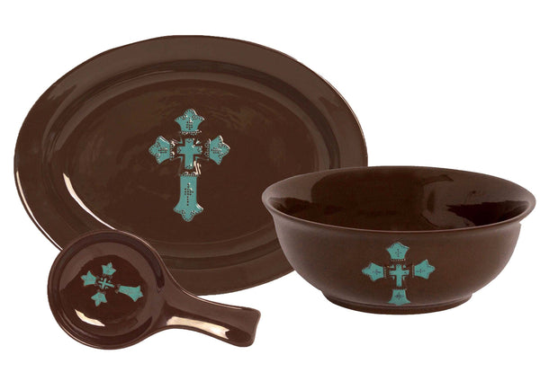 Cross 3 Piece Serving  Set