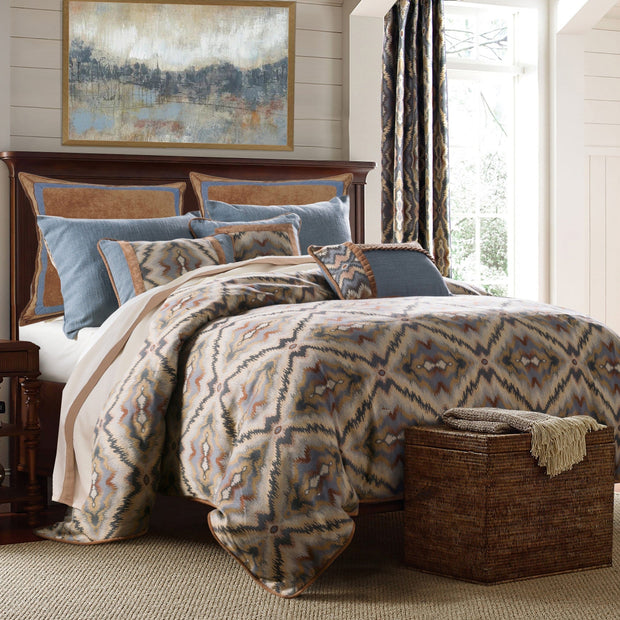 Sahara 6-PC Bedding Set, Blue & Brown