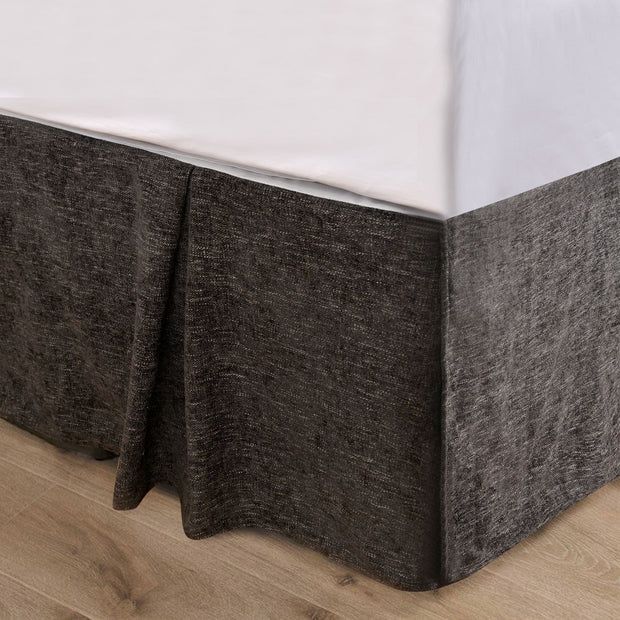 Black Chenille Bed Skirt