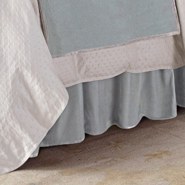 Gathered Velvet Bed Skirt