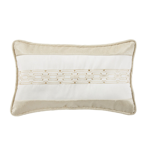 Hollywood Chain Link Embroidery Lumbar Pillow, 16x26