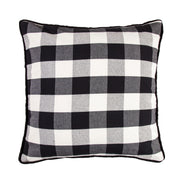 Buffalo Check Euro Sham, 27x27, Black