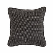 Blackberry Polka Dot Pillow Reversed To Solid Black, 20x20