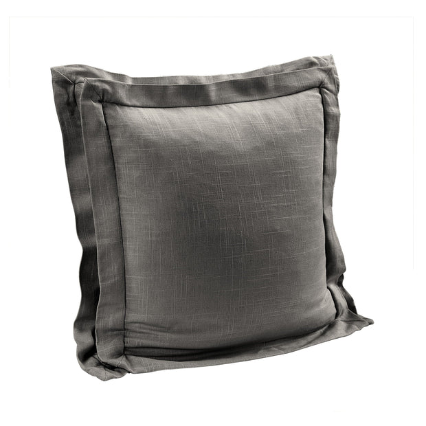 Double Flanged Washed Linen Pillow, 5 Colors, 20x20