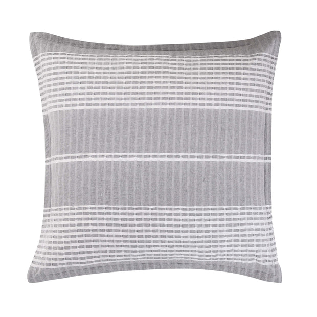 Lane Gray and White Stripe Euro Sham