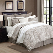 Taupe and Cream Trent 3-PC Comforter Set