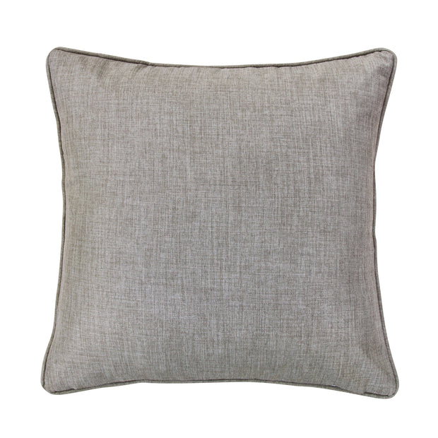Solid Taupe Linen Euro Sham, 27x27