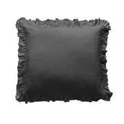 Washed Linen Ruffle Euro Sham, 2 Colors