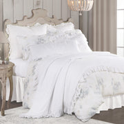 3 PC Rosaline Washed Linen Comforter Set