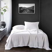 Waffle Weave Coverlet Set, 4 Colors