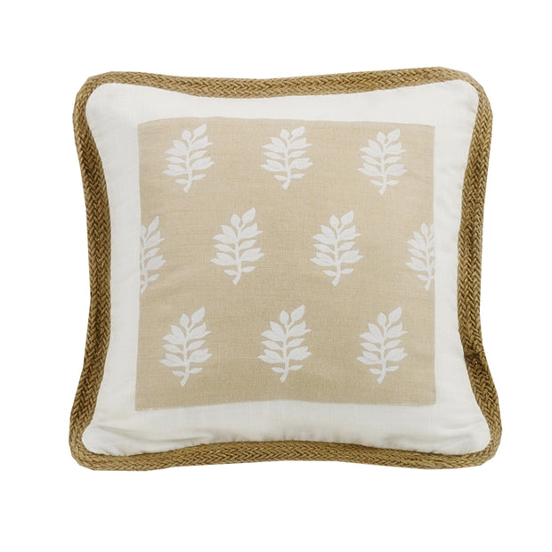 Newport Framed Throw Pillow w/ Trim, 18x18