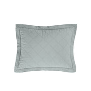 Linen & Cotton Diamond Quilted Boudoir Pillow (5 Colors)