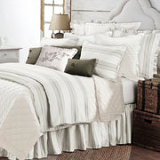 Prescott Striped Bed Skirt, Taupe