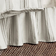 "Prescott Taupe Striped Bedskirt, 17"" Drop (Queen/King)"