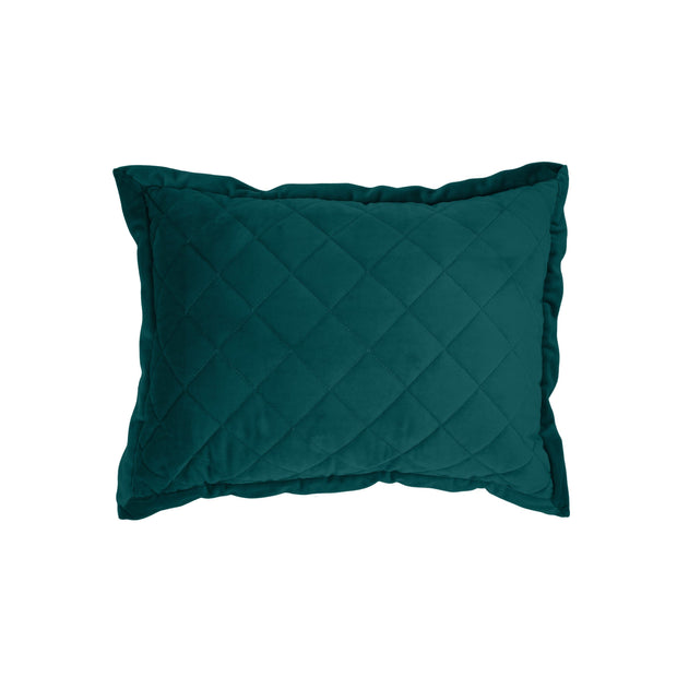 Velvet Diamond Quilted Boudoir Pillow, 6 Colors, 12x16
