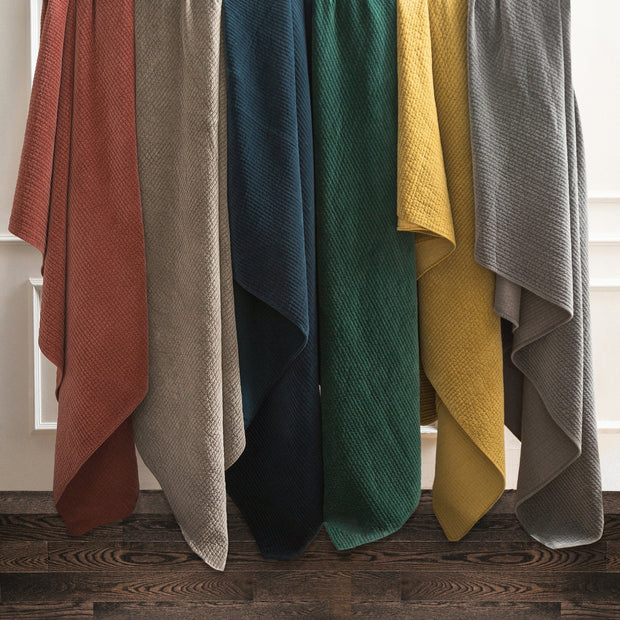 Stonewashed Cotton Velvet Quilt Set, 6 Colors