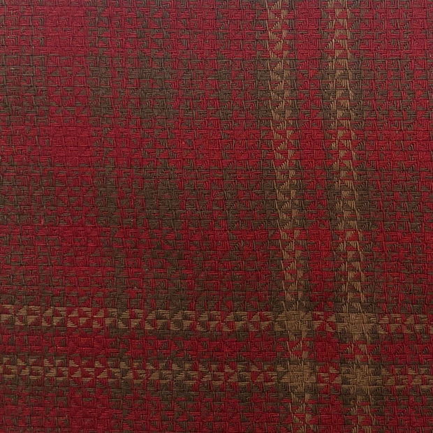 Cascade Lodge Red / Brown Plaid Swatch