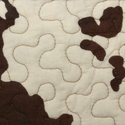 Elsa Cowhide Reversible Quilt Brown Swatch