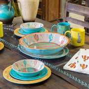 Cactus 4-PC Melamine Salad Plate Set
