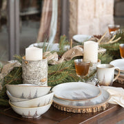 Clearwater Pines 21 PC Dinnerware and Canister Set
