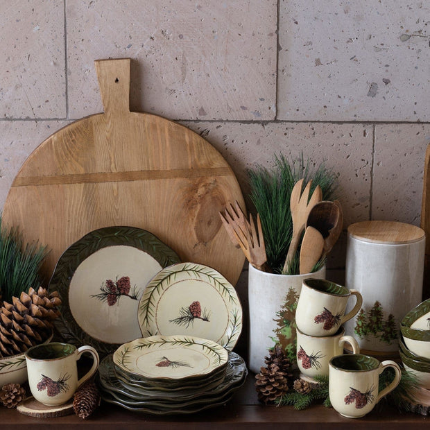 Pine Cone 3-PC Kitchen Canister Set