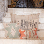 Sedona Long Rectangles & Arrows Burlap Pillow