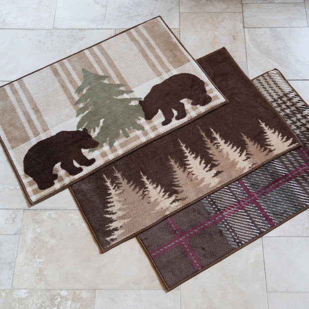 Clearwater Pines Chocolate Kitchen/Bath Rug