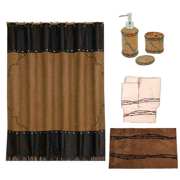 Barbwire Complete 8-PC Country-Western Bathroom Set