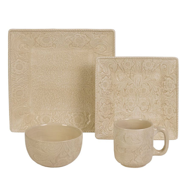 Savannah Cream 24-PC Dinnerware and Canister Set