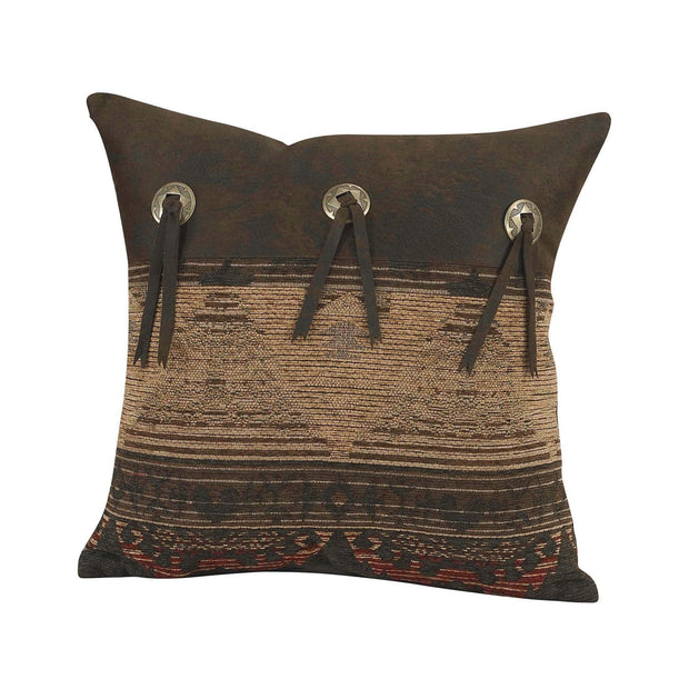 Sierra Square Throw Pillow w/ Concho