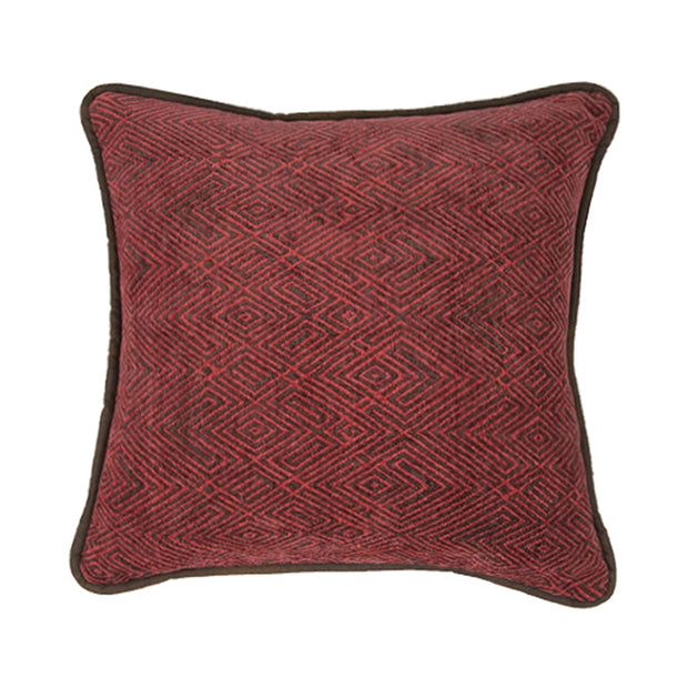 Wilderness Ridge Red Chenille Throw Pillow
