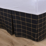 Windowpane Tailored Bed Skirt