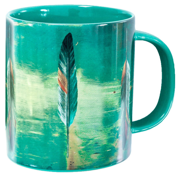 Tossed Feather 4-PC Coffee Mug Set