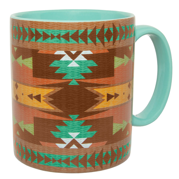 Mesa Southwestern Mug and Aztec Coaster 8 PC Set