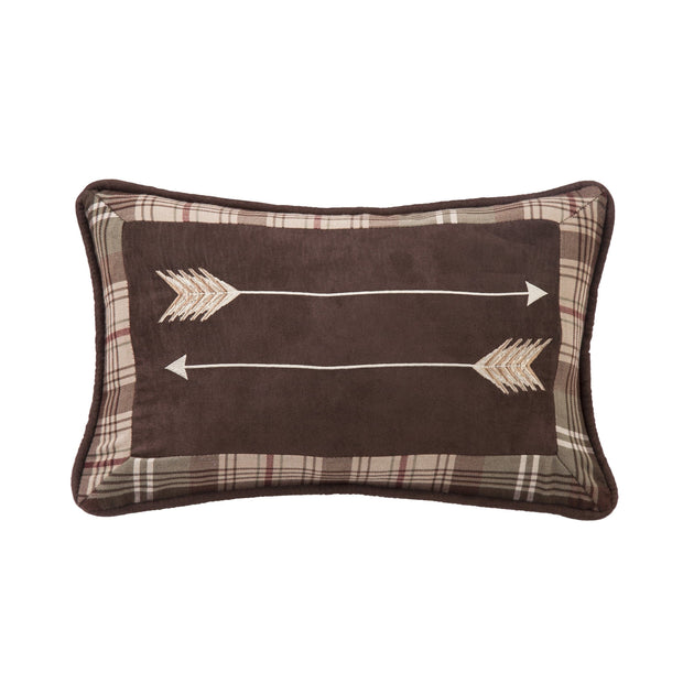 Huntsman Embroidered Arrow Accent Pillow, 12x19