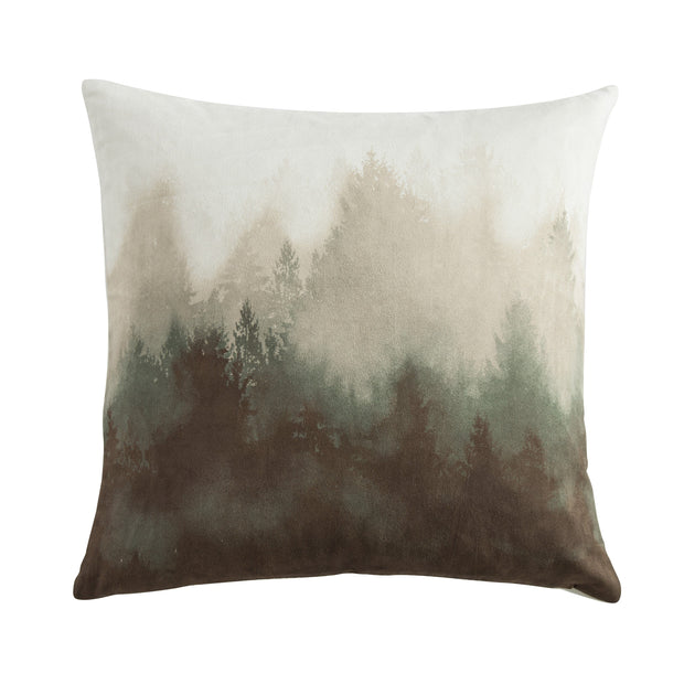 Forest Pine Watermark Tree Throw Pillow, 18x18