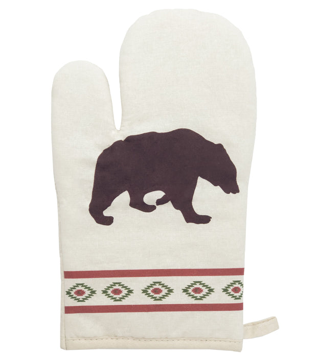 5-PC Aztec Bear Printed Oven Mitts