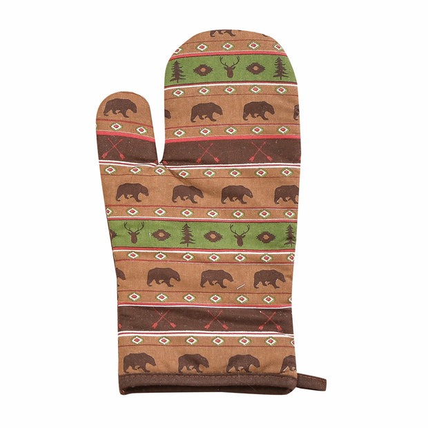 Aztec Multi Animal Printed Oven Mitt