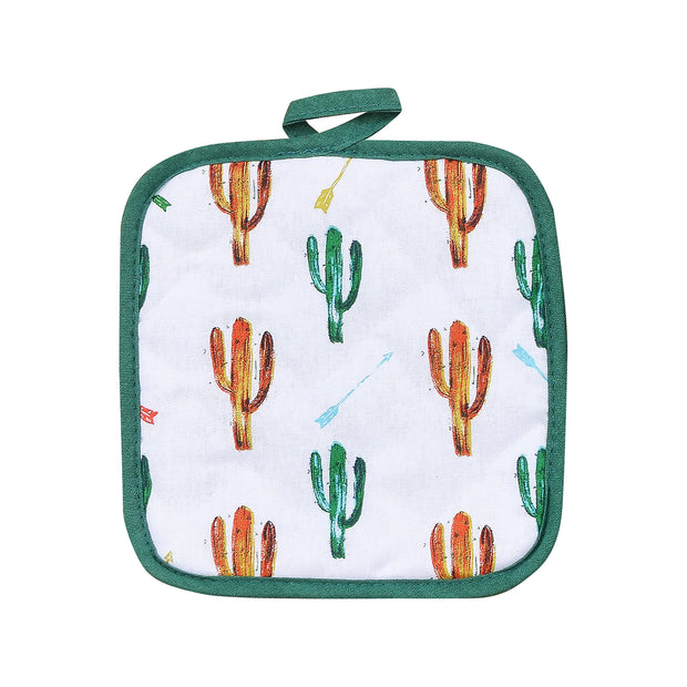 Colorful Cactus Printed Pot Holder