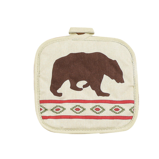 Aztec Bear Printed Pot Holder
